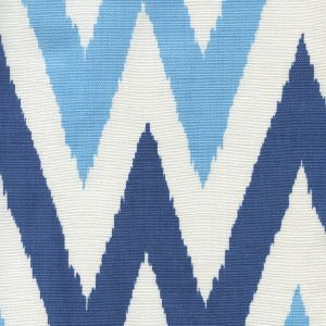 306026F TASHKENT II SMALL SCALE Blue Navy Blue on White Quadrille Fabric