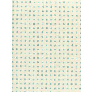 AC880-03 TATE Turquoise on Tint Quadrille Fabric