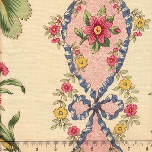 2472-01 TOILE D'AULNAY Bleu Quadrille Fabric