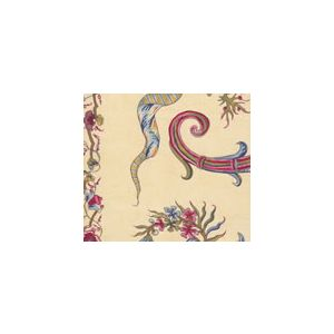 2455-02 TOILE RAYURE DE BERNY Pink Beige Quadrille Fabric