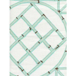 6020-03 LYFORD TRELLIS Aqua Brown Quadrille Fabric