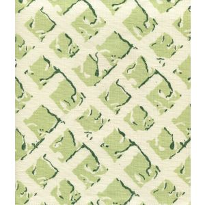 8220-05 TWIGS Soft Green Dark Green on Tint Quadrille Fabric