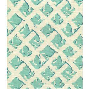 8220-07 TWIGS Turquoise Dark Turquoise on Tint Quadrille Fabric