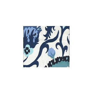 306226FWSUN UZBEK Multi Blues  Quadrille Fabric