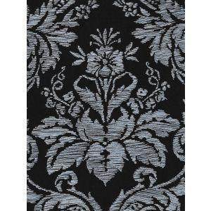 302310V-06VV VICTORIA ON VENETIAN VELVET White on Midnight Blue Quadrille Fabric