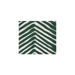 AC302-51SUN ZIG ZAG Forest Green on White  Quadrille Fabric