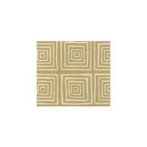 6175-23 ZIGGURAT REVERSE Gold Metallic on Tint Custom Only Quadrille Fabric