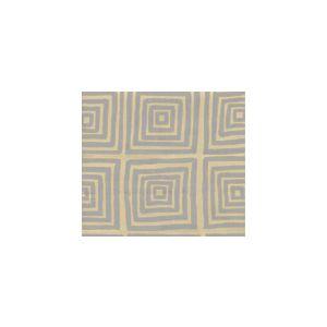 6170-10 ZIGGURAT Silver Metallic on Tan Custom Only Quadrille Fabric
