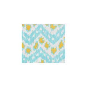 7320SUN-CUSTTU ZIZI HORIZONTAL Custom Turquoise with Yellow Quadrille Fabric