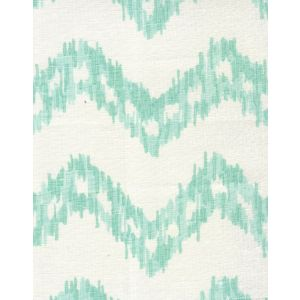 7330-04W ZIZI ZIG ZAG Aqua on White Quadrille Fabric