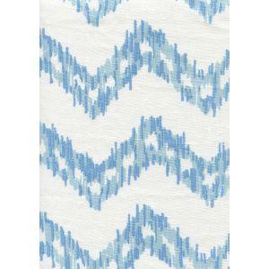 7330-00W ZIZI ZIG ZAG Sky Blues on White Quadrille Fabric