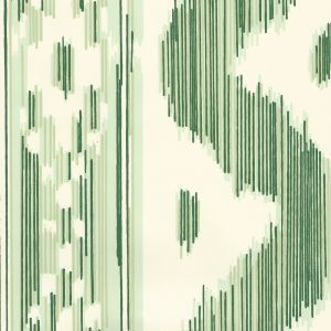 2020-03OWP BALI HAI Greens On Off White Quadrille Wallpaper