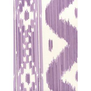 2020-05AWP BALI HAI Purple On Almost White Quadrille Wallpaper