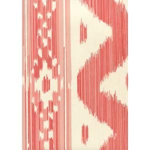 2020-02OWP BALI HAI Salmon On Off White Quadrille Wallpaper