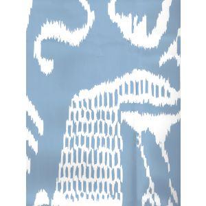 2430-30WP BALI II French Blue On White Quadrille Wallpaper