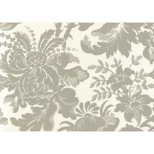 306086W DES GARDES Gray On Off White Quadrille Wallpaper