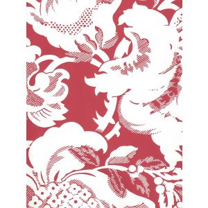 306589W DES GARDES REVERSE Burgundy On Off White Quadrille Wallpaper