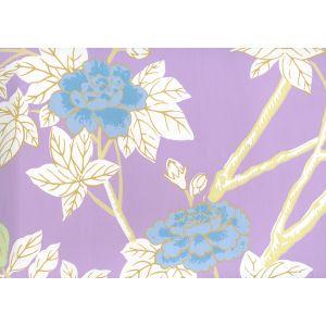 306064W HAPPY GARDEN Lavender On White Quadrille Wallpaper