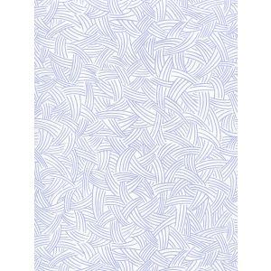 AP404-05 INTERWEAVE Periwinkle On Almost White Quadrille Wallpaper