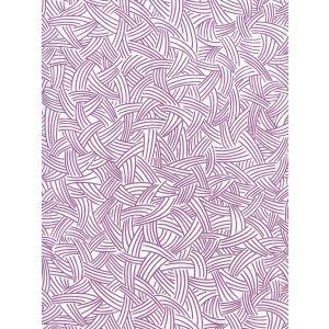 AP404-08 INTERWEAVE Purple On Almost White Quadrille Wallpaper