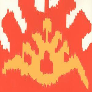 302830W-02AWP KAZAK Coral New Yellow Quadrille Wallpaper