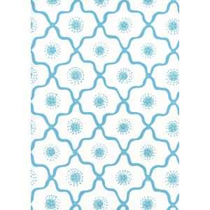 306320W-01WWP LONGFELLOW Blue,White Quadrille Wallpaper