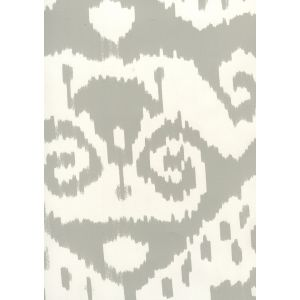 306046W MALAYA Grey On Almost White Quadrille Wallpaper