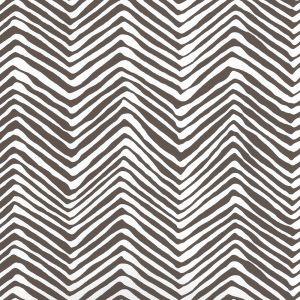 AP303-11PV PETITE ZIG ZAG Brown On White Vinyl Quadrille Wallpaper