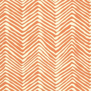 AP303-12 PETITE ZIG ZAG Salmon On Off White Quadrille Wallpaper