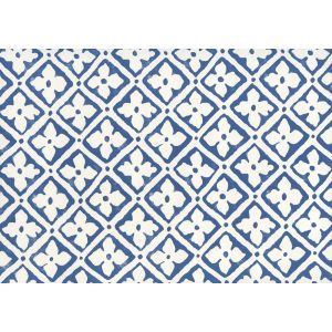306330W-09 PUCCINI New Navy On Almost White Quadrille Wallpaper