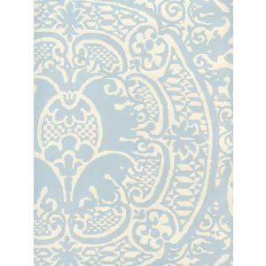 352000W-23OWP VENETO Windsor Blue On Off White Quadrille Wallpaper