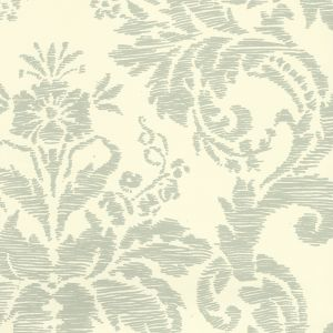 302310W VICTORIA French Green On Off White Quadrille Wallpaper