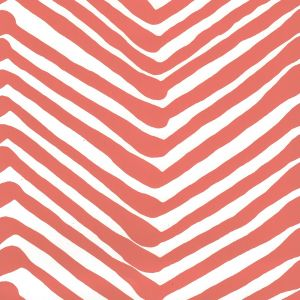 AP302-06 ZIG ZAG New Shrimp On Almost White Quadrille Wallpaper