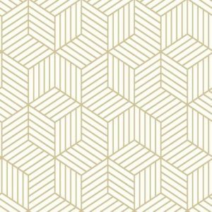 RMK10704WP Striped Hexagon York Wallpaper