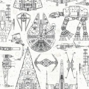 RMK11036WP Star Wars Blueprint Wall Appliques York Wallpaper