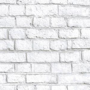 RMK11237WP Whitewash Brick Wall Appliques York Wallpaper