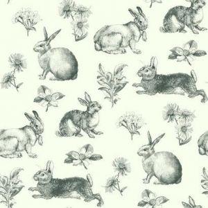 AT4263 Bunny Toile York Wallpaper