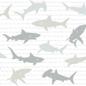 KI0565 Shark Charades York Wallpaper