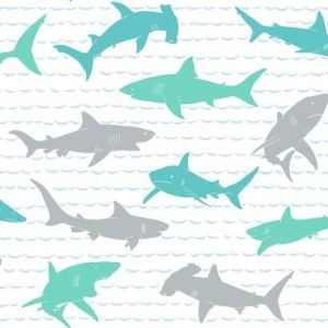 KI0567 Shark Charades York Wallpaper