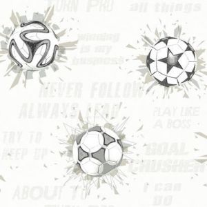 KI0578 Soccer Ball Blast York Wallpaper