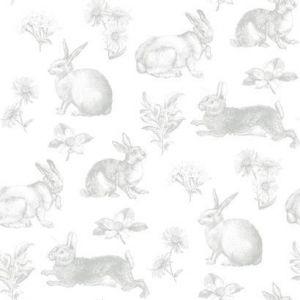 KI0580 Bunny Toile York Wallpaper