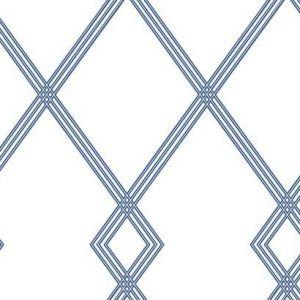 CY1507 Ribbon Stripe Trellis York Wallpaper