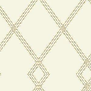 CY1508 Ribbon Stripe Trellis York Wallpaper