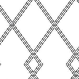 CY1509 Ribbon Stripe Trellis York Wallpaper
