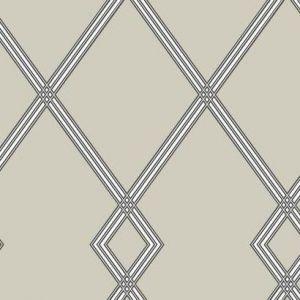 CY1510 Ribbon Stripe Trellis York Wallpaper