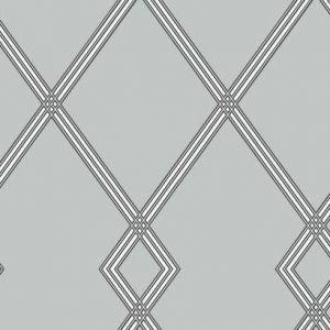 CY1511 Ribbon Stripe Trellis York Wallpaper