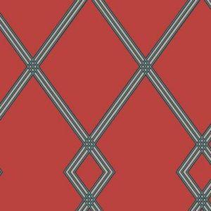 CY1512 Ribbon Stripe Trellis York Wallpaper
