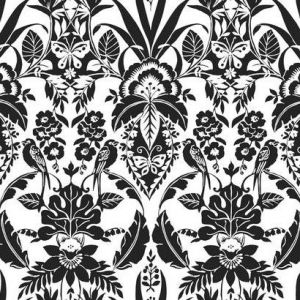 CY1585 Botanical Damask York Wallpaper