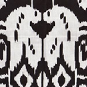 6460-33 ISLAND IKAT Black on White Quadrille Fabric