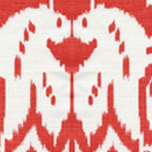 6460-08 ISLAND IKAT Watermelon II on White Quadrille Fabric
